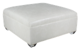2042 Square Ottoman with Plain Top/ Acrylic leg