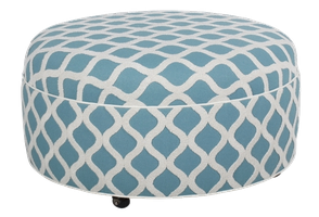 2532 Round Ottoman with Plain Top/Casters