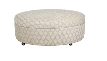 2542 Round Ottoman with Plain Top/Casters