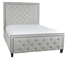 FB1 Tufted Footboard shown with #54 Headboard